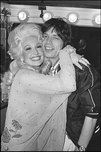 dolly parton - mick jagger 1977