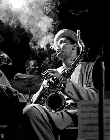 herman leonard - dexter gordon - nyc - 1948
