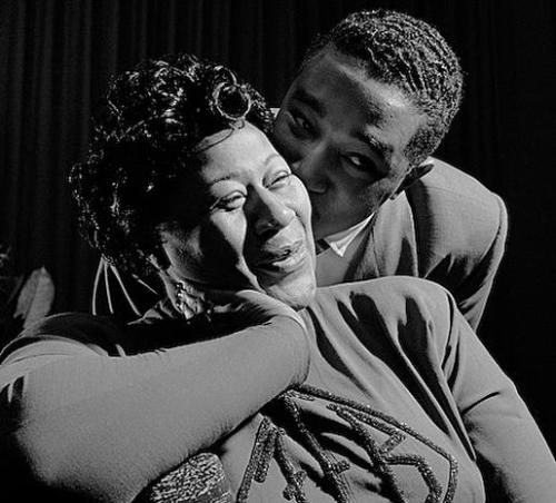 herman leonard - ella fitzgerald e ray brown - nyc 1949