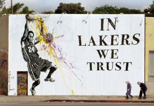Mr Brainwash - LA Lakers