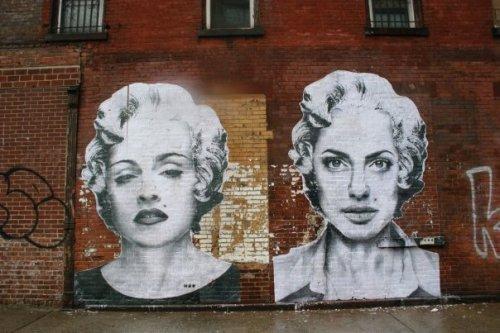 Mr Brainwash - Madonna e Angelina Jolie