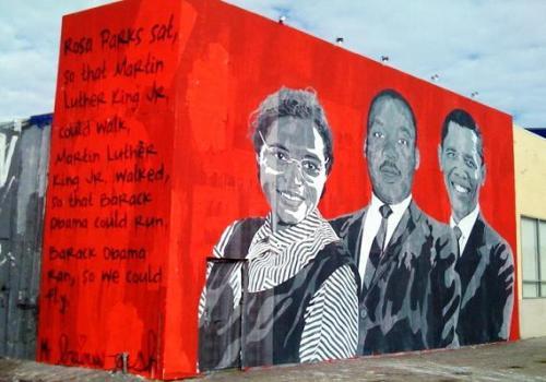 Mr Brainwash - Rosa Parks - Martin Luther King Jr - Barack Obama