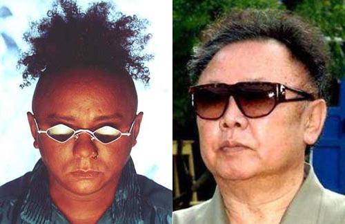Chico César e Kim Jong-Il