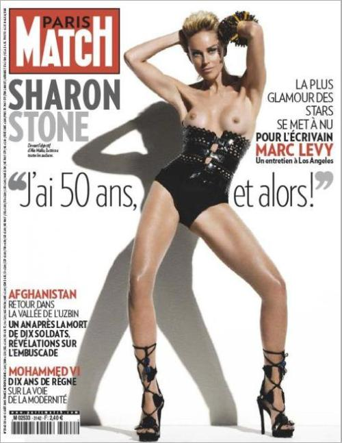 Sharon Stone na Paris Match