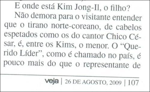 Veja - Chico César e Kim Jong-Il