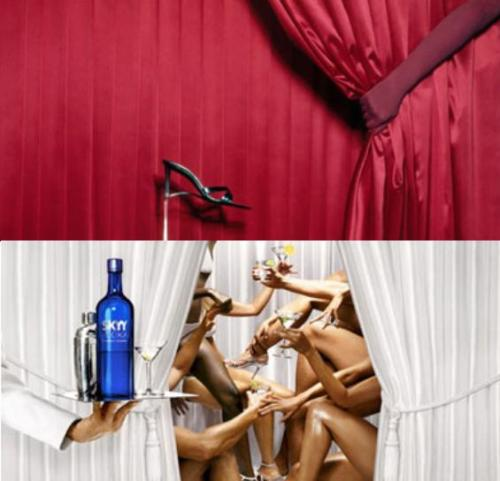 Influência de Guy Bourdin - David Lachapelle (Skyy vodka)