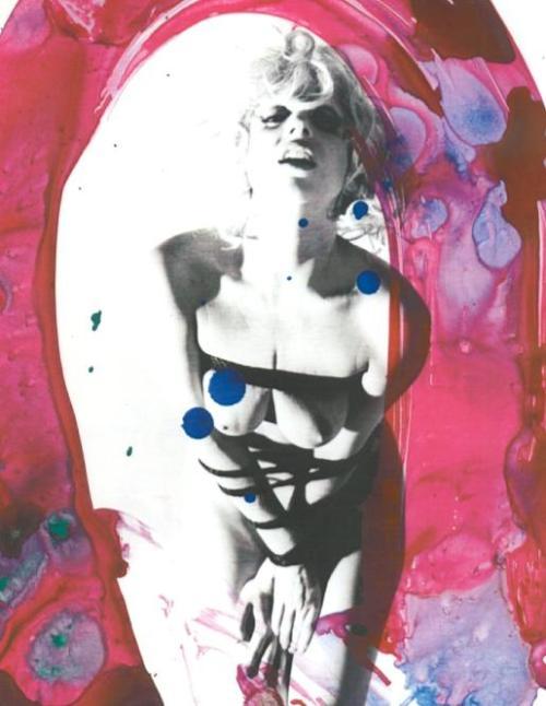 Lady Gaga por Nobuyoshi Arakia  para Vogue Hommes Japan 01