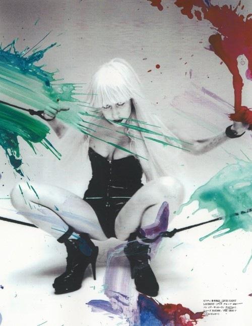 Lady Gaga por Nobuyoshi Arakia  para Vogue Hommes Japan 05