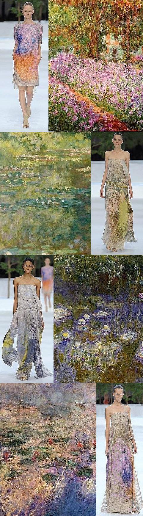 Moda e Arte - Albert Kriemler para Akris 2009 - Monet