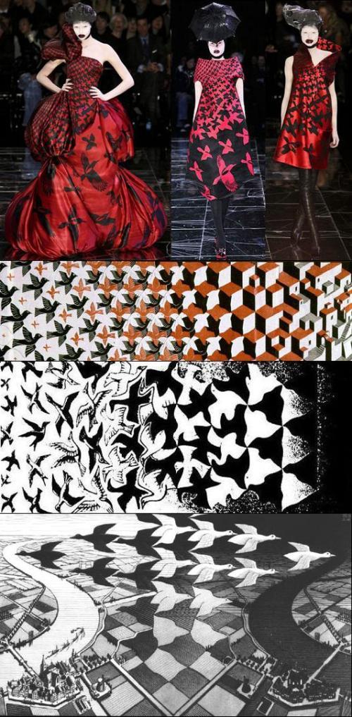 Moda e Arte - Alexander McQueen - Escher - 2009
