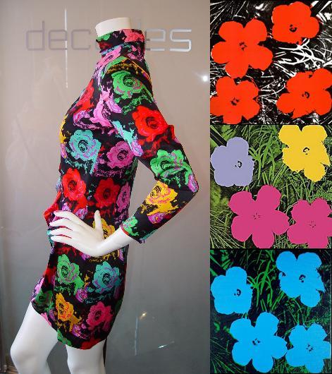 Moda e Arte - Emanuel Ungaro Parallele - Andy Warhol flowers - 90's
